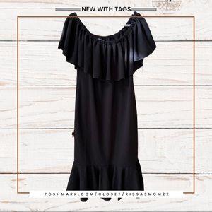 LULAROE CiCi Black Dress Size XL NEW with tags